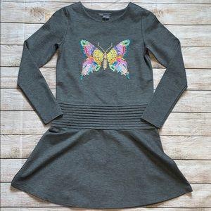 VINCE Butterfly Girls Dress Gray Size L